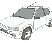 Coloriage Peugeot 205 junior