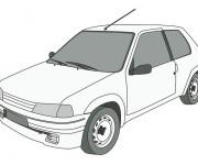 Coloriage et dessins gratuit Peugeot 205 junior à imprimer