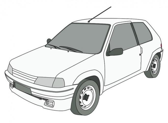Coloriage et dessins gratuits Peugeot 205 junior à imprimer