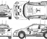 Coloriage et dessins gratuit Peugeot 206 de Rallye à imprimer