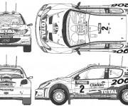 Coloriage Peugeot 206 de Rallye