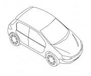 Coloriage et dessins gratuit Peugeot 206 stylisé à imprimer