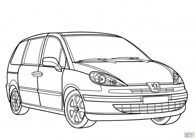 Coloriage et dessins gratuits Peugeot 3008 à imprimer