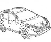 Coloriage et dessins gratuit Peugeot 4 x 4 à imprimer