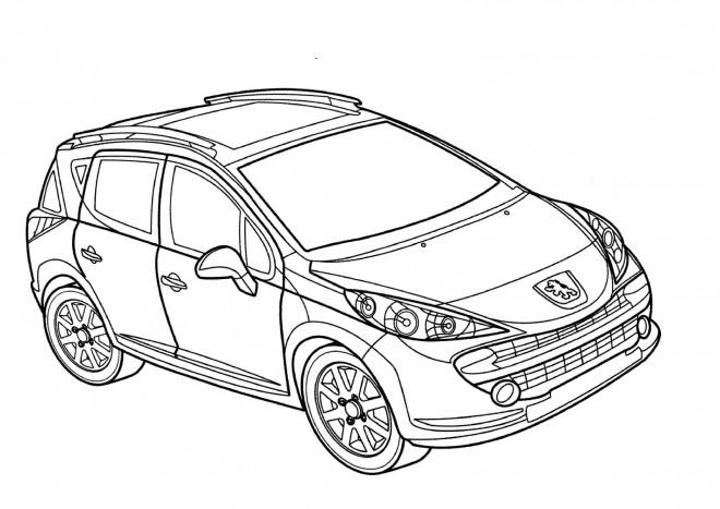 Coloriage et dessins gratuits Peugeot 4 x 4 à imprimer