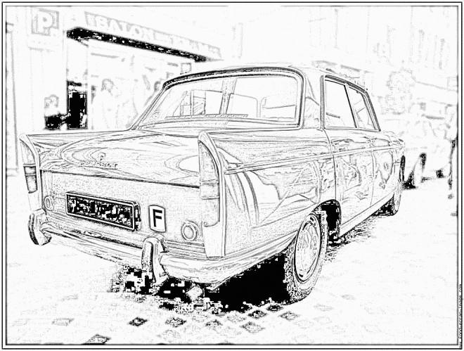 Coloriage et dessins gratuits Peugeot 404 classique à imprimer
