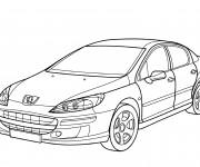 Coloriage et dessins gratuit Peugeot 407 à imprimer