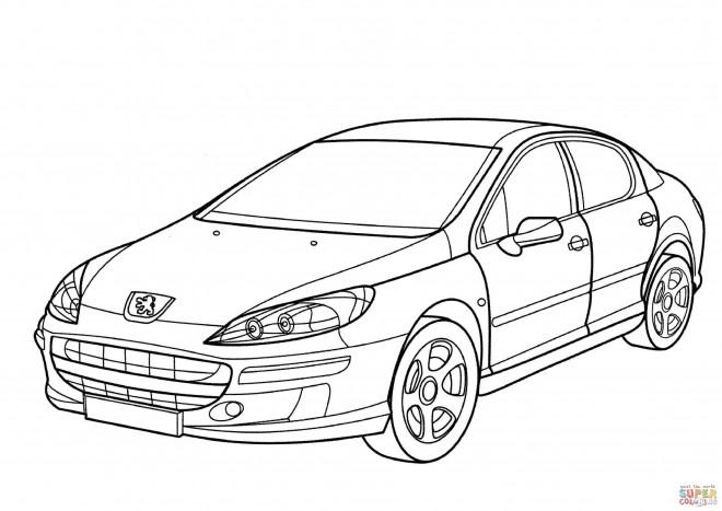 Coloriage et dessins gratuits Peugeot 407 à imprimer