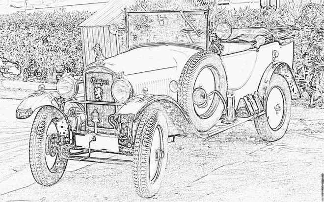 Coloriage et dessins gratuits Peugeot ancien modèle à imprimer