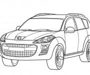 Coloriage et dessins gratuit Peugeot couleur à imprimer