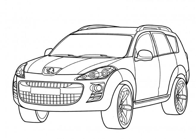 Coloriage et dessins gratuits Peugeot couleur à imprimer