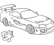 Coloriage Peugeot de course