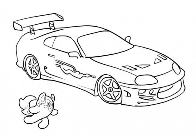 Coloriage et dessins gratuits Peugeot de course à imprimer
