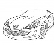 Coloriage Peugeot de luxe simple