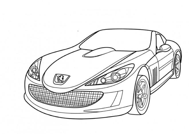 Coloriage et dessins gratuits Peugeot de luxe simple à imprimer