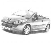 Coloriage et dessins gratuit Peugeot décapotable à imprimer