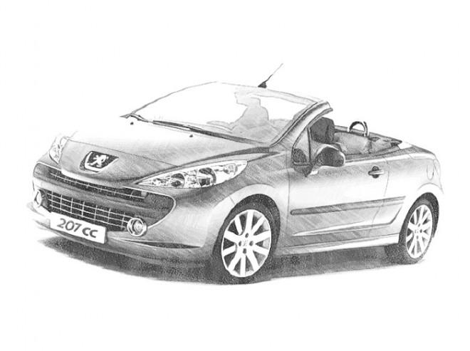 Coloriage et dessins gratuits Peugeot décapotable à imprimer