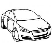 Coloriage et dessins gratuit Peugeot en noir et blanc à imprimer