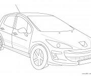 Coloriage et dessins gratuit Peugeot modèle 206 à imprimer