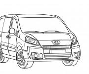Coloriage et dessins gratuit Peugeot Partner en ligne à imprimer