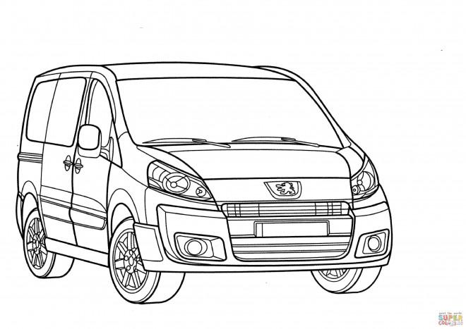 Coloriage et dessins gratuits Peugeot Partner en ligne à imprimer