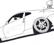 Coloriage Peugeot sport