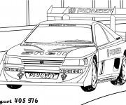 Coloriage et dessins gratuit Voiture de course Peugeot 405 à imprimer
