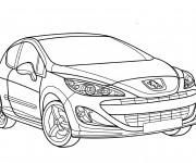 Coloriage et dessins gratuit Voiture Peugeot 208 à imprimer