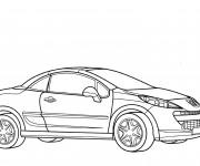 Coloriage et dessins gratuit Voiture Peugeot coupé à imprimer