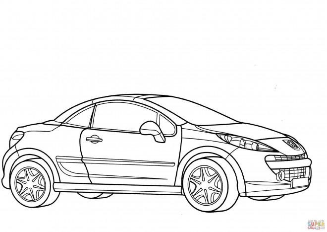 Coloriage et dessins gratuits Voiture Peugeot coupé à imprimer