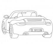 Coloriage et dessins gratuit Auto de course Porche à imprimer