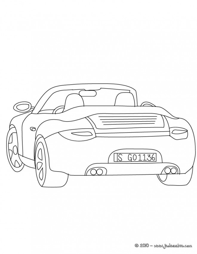 Coloriage et dessins gratuits Auto de course Porche à imprimer