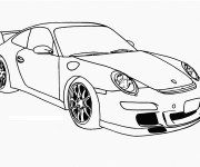 Coloriage Auto de course Porsche Panamera