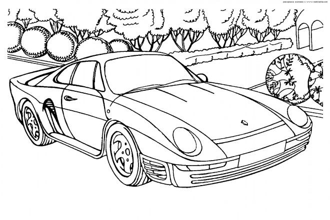 Coloriage et dessins gratuits Ferrari à imprimer