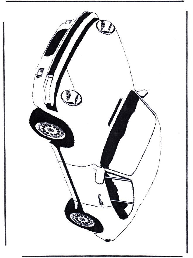 Coloriage et dessins gratuits Illustration Porsche en noir à imprimer