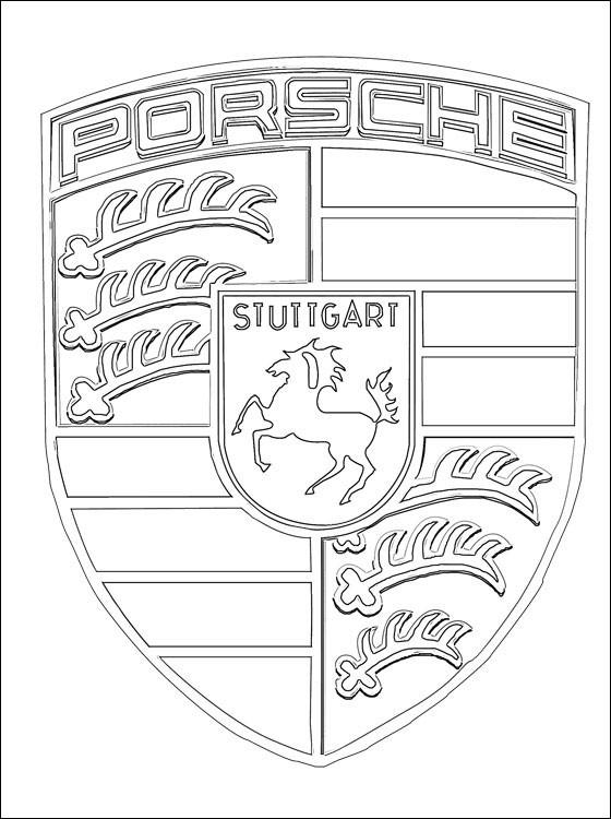 Coloriage logo porsche dessin gratuit imprimer - Coloriage porsche ...