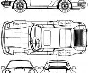 Coloriage et dessins gratuit Modèle de voiture Porsche à imprimer