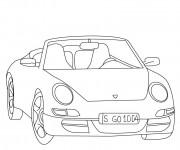 Coloriage Porsche 11