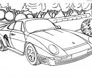 Coloriage Porsche 20