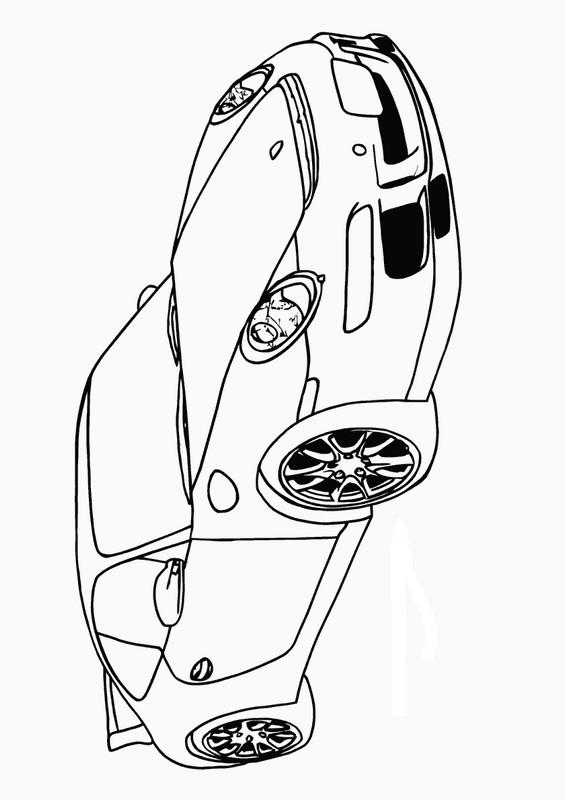 Coloriage et dessins gratuits Porsche 911 basique à imprimer