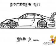 Coloriage et dessins gratuit Porsche 911 GTE à imprimer