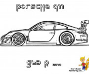 Coloriage Porsche 911 GTE