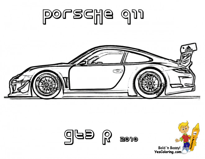 coloriage porsche 911 gte dessin gratuit imprimer. Black Bedroom Furniture Sets. Home Design Ideas