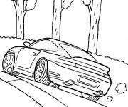 Coloriage Porsche 991 Turbo coupé