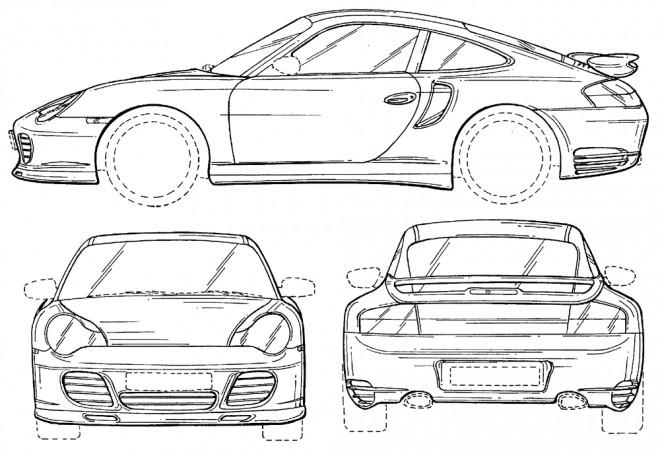 Coloriage et dessins gratuits Porsche à découper à imprimer