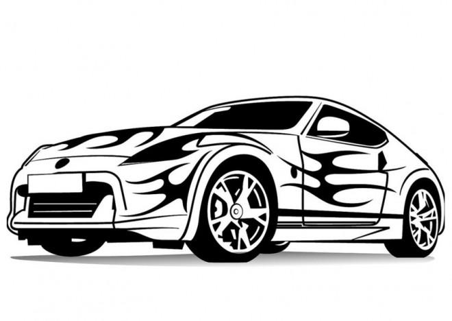 Coloriage et dessins gratuits Porsche avec peinture fantastique à imprimer