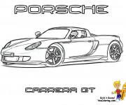 Coloriage et dessins gratuit Porsche Carrera GT à imprimer