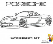 Coloriage Porsche Carrera GT