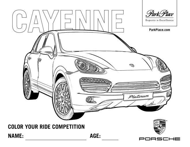 Coloriage et dessins gratuits Porsche Cayenne à imprimer