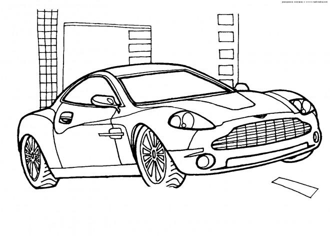 Coloriage et dessins gratuits Porsche Cayman facile à colorier à imprimer